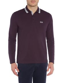 Hugo Boss Plisy Long Sleeve Tipped Collar Polo