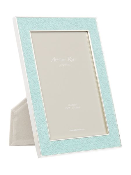 Addison Ross 5x7 shagreen sea green frame