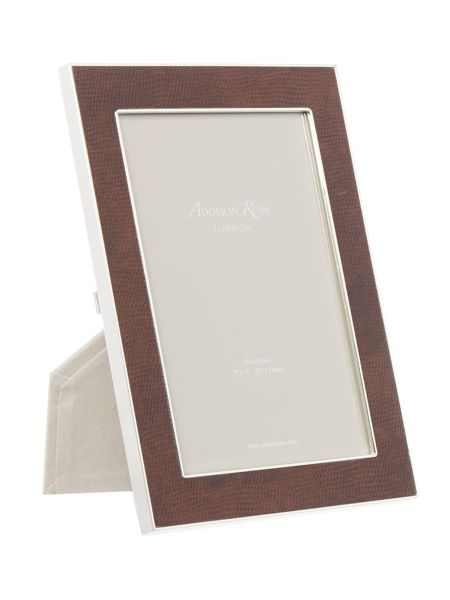 Addison Ross 5x7 faux snake frame coffee