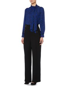 Biba Wide leg button detail trouser