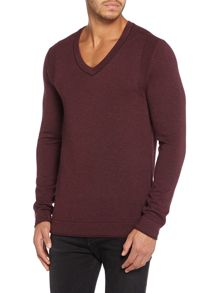 Calvin Klein Caleb V Neck Long Sleeve Sweater