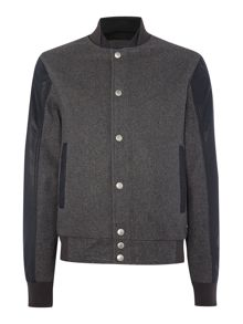 Naval wool Leather Jacket