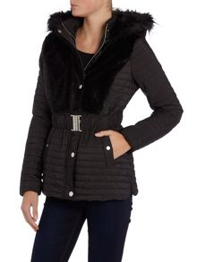 Faux Fur Shirt Puffa Jacket