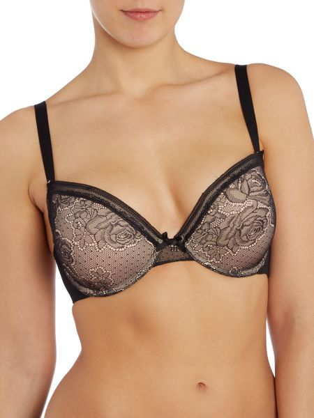 Marie Meili Rose lace push up bra