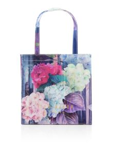 Aliscon bowcon multi coloured small tote bag