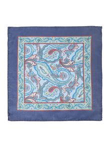 Corsivo Placido Printed Paisley Pocket Square