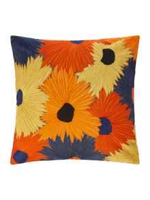 Linea Embroidered Floral Cushion