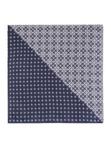 Corsivo Martino Printed Geo Pocket Square