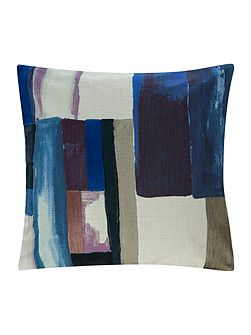 Painterly abstract cushion