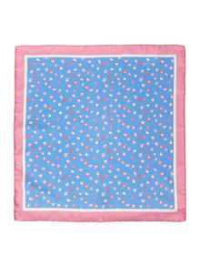 New & Lingwood Exmore Printed Tulip Pocket Square
