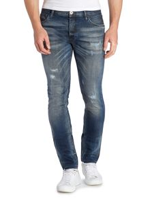 Jack & Jones Rip & Repair Slim Leg Jeans