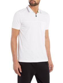 Hugo Boss Philix Regular Fit Zip Neck Logo Polo