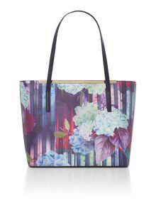 Nasya multi zip top large tote bag with pouch
