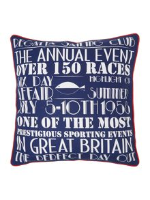 Linea Regatta print cushion
