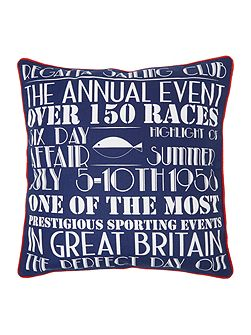 Regatta print cushion