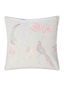 Bird print cushion