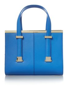 Ted Baker Cristie light blue metal bar tote bag
