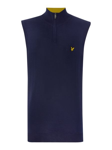 Lyle and Scott Golf ¼ Zip Merino Vest