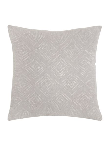 Gray & Willow Diamond stitch cushion, grey