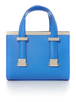 Minibet light blue small metal bar tote bag