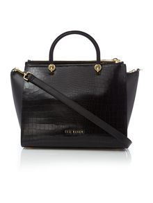 Ted Baker Carinna black croc zip cross body tote bag