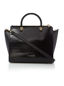 Ted Baker Carinna black croc zip cross body