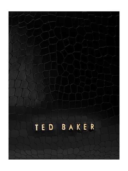 Ted Baker Carinna black croc large cross body tote bag