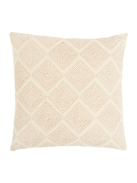 Gray & Willow Diamond stitch cushion, red