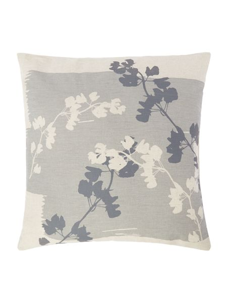 Gray & Willow Leaf silhouette cushion