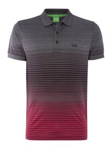 Paddy 3 Regular Fit Gradient Logo Polo