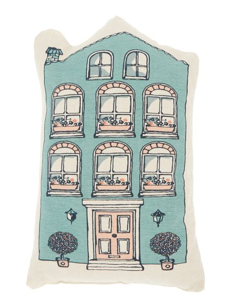 Dickins & Jones House shaped cushion