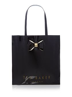 Sumacon bowcon black large tote bag