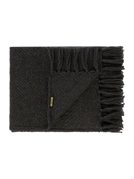 Biba Metallic detail weave throw