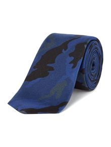Kenneth Cole Brad Printed camo silk tie