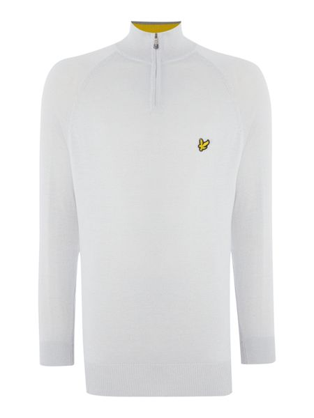 Lyle and Scott Golf Ergonomic Panelled Zip Jumper