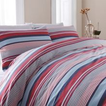 Linea Red stripe duvet set