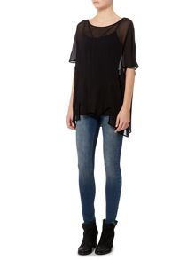 Label Lab Geo Oversized Sheer Blouse