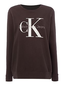 Long sleeve reissue crew neck logo sweatshirt