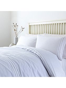 White ladder stitch duvet cover set