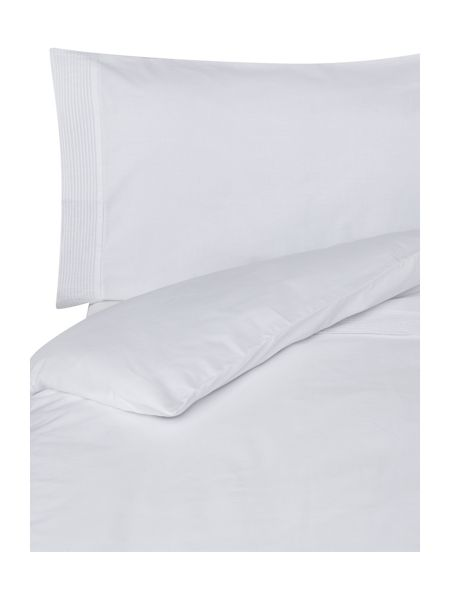 Linea White pleats duvet cover set