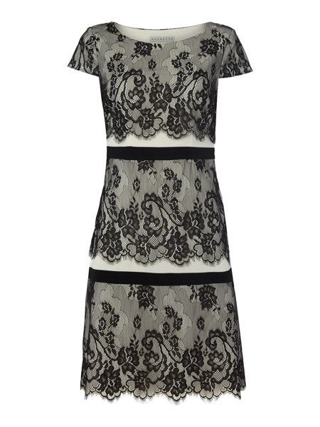 Shubette Lace three tier shift dress