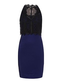 Sleeveless Lace Top 2 in 1 Dress