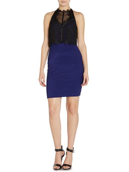 Lipsy Sleeveless Lace Top 2 in 1 Dress