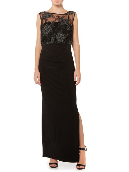 Shubette Jersey embroidered top maxi
