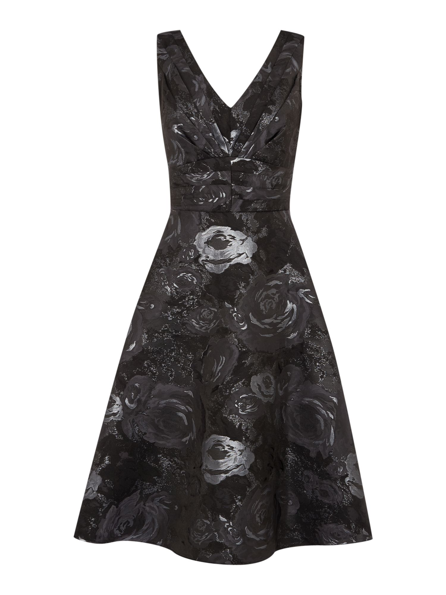 Untold Jacquard fit and flare dress, Black