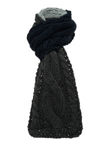 Maldon cable knit scarf