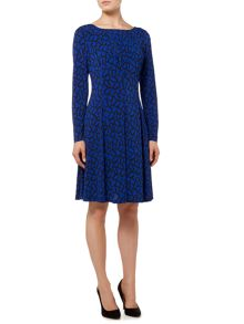 Biba Printed fit & flare jersey dress