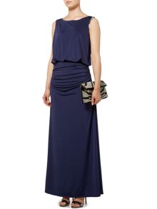 Biba Beaded drape body maxi dress