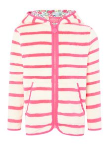 Girls Stripe hooded fleece