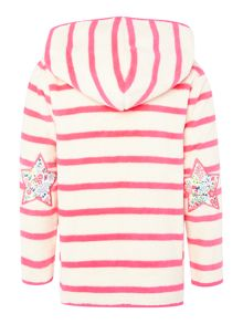 Joules Girls Stripe hooded fleece